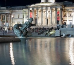 Museum in night at United Kingdom